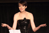 Anne Hathaway took the stage at the Cinema Audio Society Guild Awards.