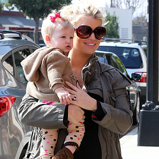 Jessica Simpson Takes Maxwell Johnson to Lunch
