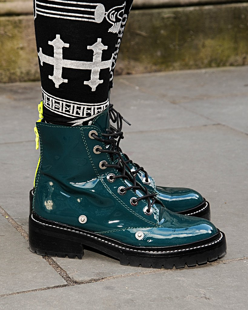 Patent boots gave off the quintessential London punk vibe.