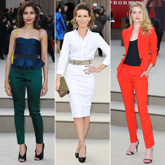 Rosie, Kate, and Freida Take In Burberry at London Fashion Week