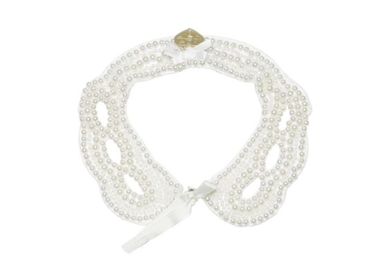 Miss Blumarine Satin and Pearl Collar