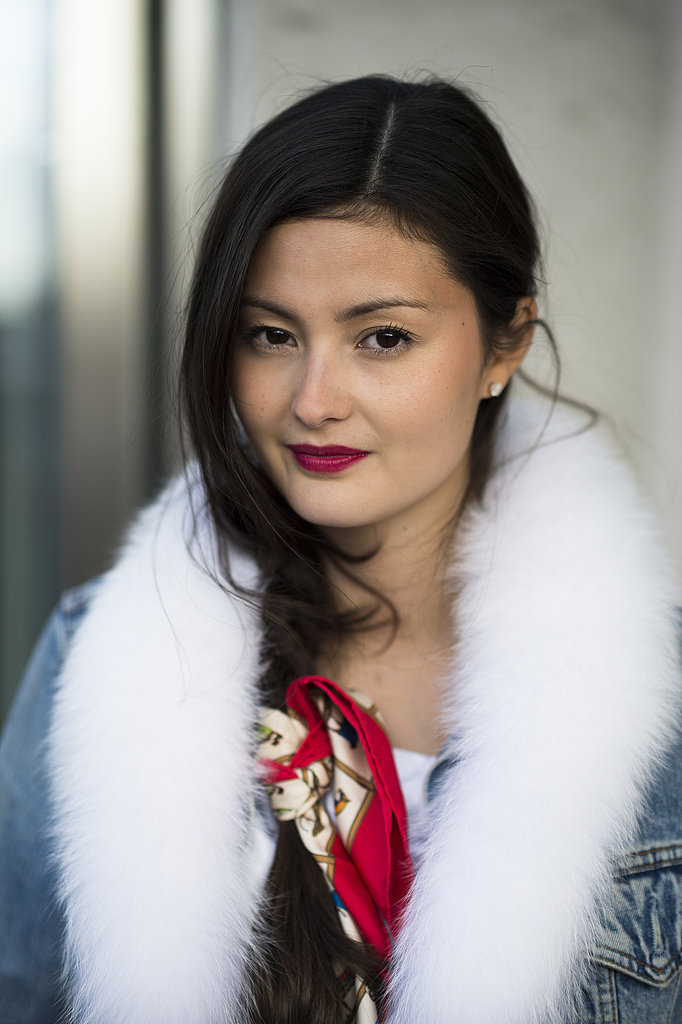 Peony Lim tied a head scarf in her braid for a glamorous accent. Source: Le 21ème | Adam Katz Sinding