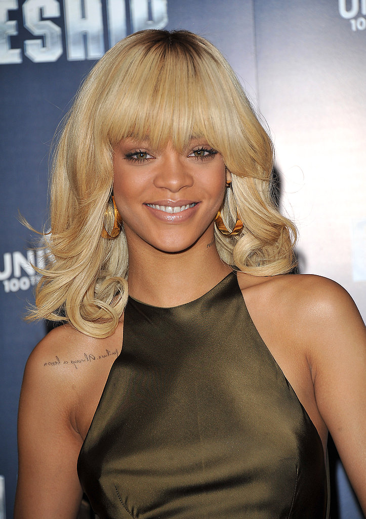 While promoting her movie Battleship in 2012, Rihanna showed off her version of the ombré trend with platinum blond ends and dark brunette roots.
