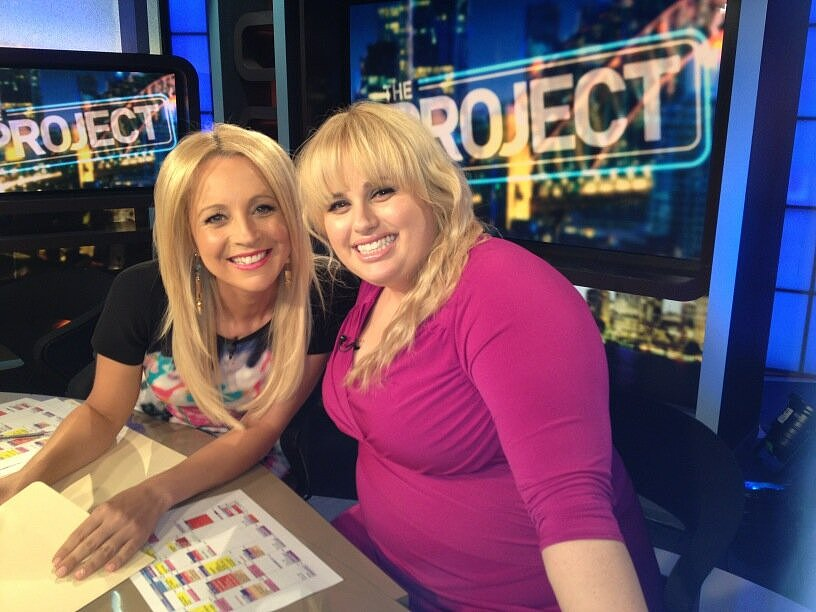 Rebel Wilson went on the Australian show The Project. Source: Twitter user RebelWilson