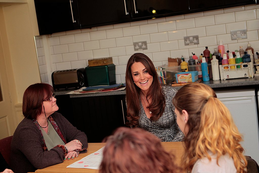 Kate Middleton met with patients.