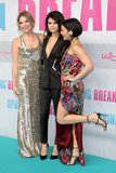 Ashley Benson, Selena Gomez, and Vanessa Hudgens posed together at the Berlin premiere of Spring Breakers.
