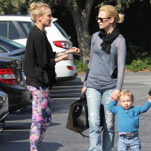 January Jones and Diane Kruger Have Lunch With Xander