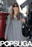 Jessica Biel Continues Her Stylish Stay in London With a Shopping Trip