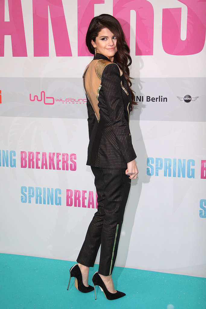 Selena Gomez showed off her open-back suit.