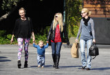 Diane Kruger joined January Jones and her son Xander for lunch in LA on Monday.