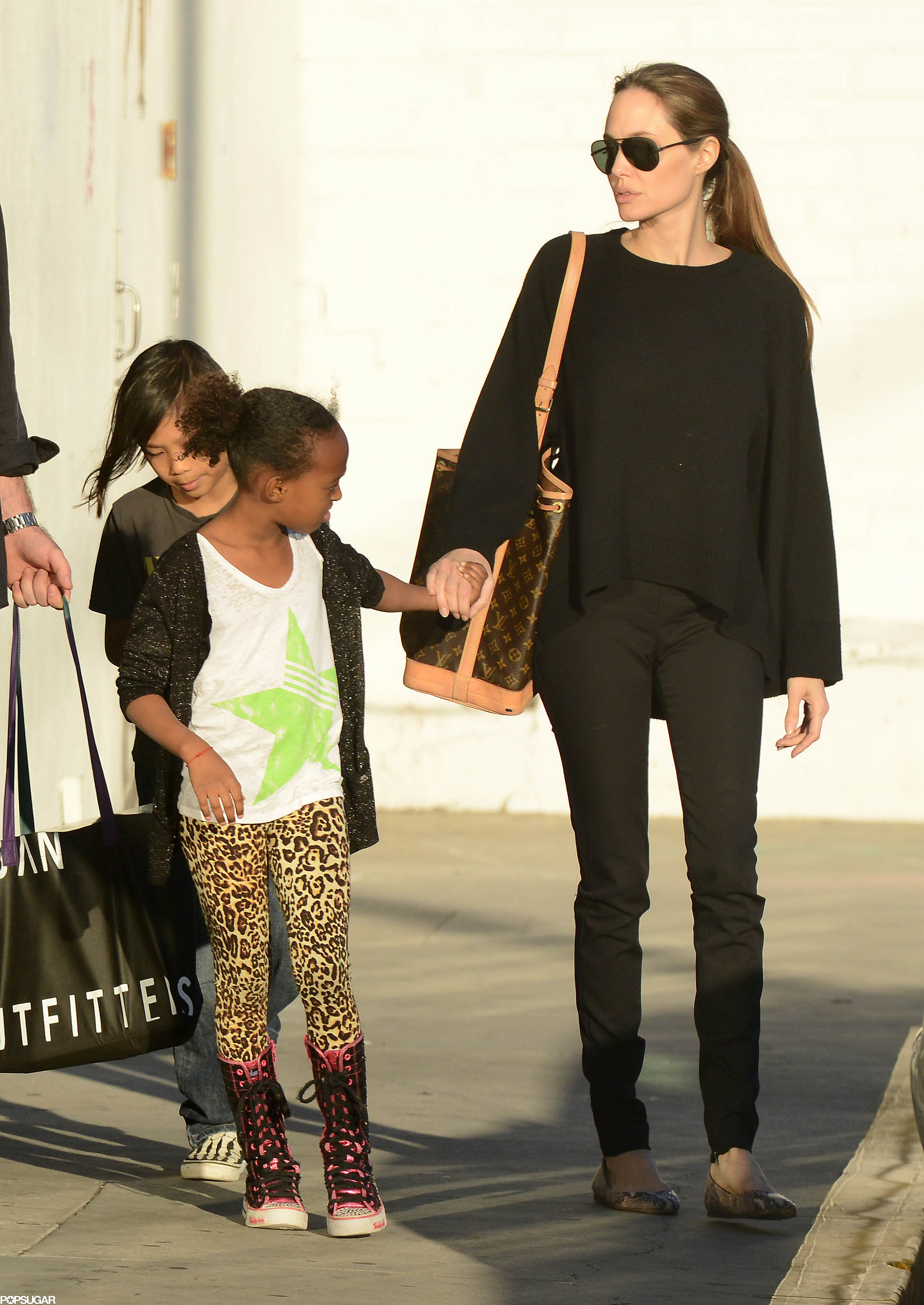 Angelina Jolie took her kids Zahara and Pax on a shopping trip to Urb