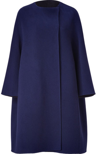 Jil Sander Blue Oversized Wool Coat