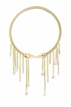 Belle Noel by Kim Kardashian 14KT Gold Glam Rock Memory Coil Necklace