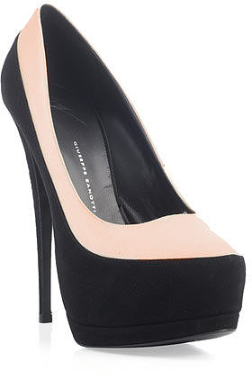 Giuseppe Zanotti Suede and satin bi-colour shoes