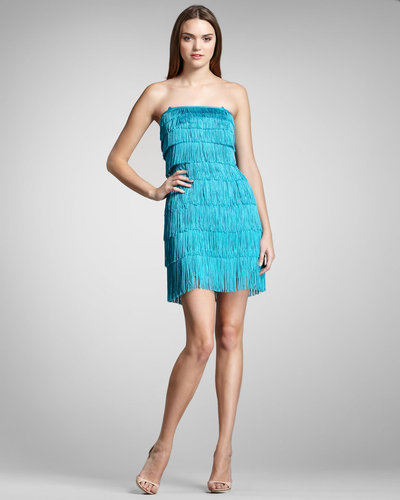 Phoebe Couture Tiered Fringe Dress