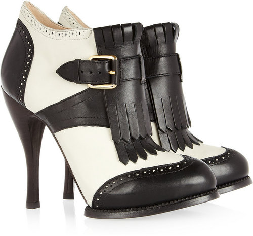 McQ Alexander McQueen Two-tone leather ankle boots