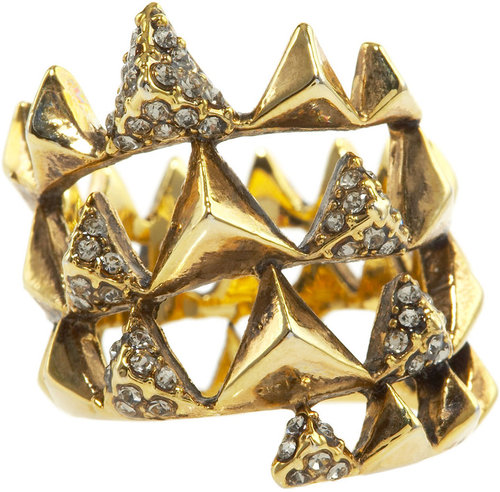 House of Harlow Pyramid Pave Wrap Ring