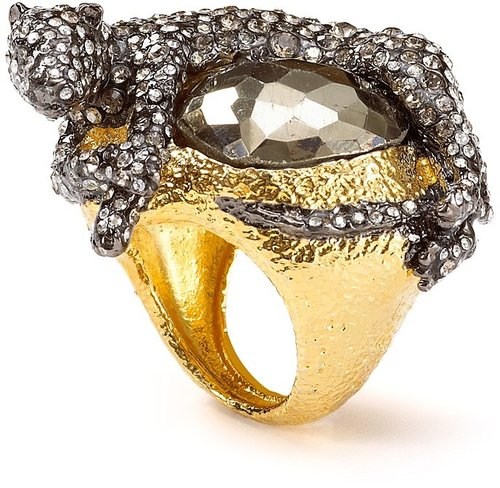 Alexis Bittar Siyabona Sunset Gold Pyrite Panther Ring