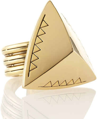 House of Harlow Faceted Triangle Cocktail Ring