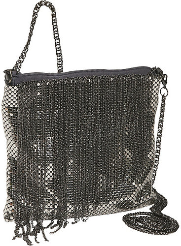 Whiting and Davis Liquid Chain Fringe Cross-Body Dance Bag