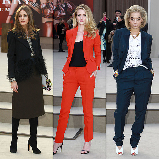 Olivia, Rosie and Rita Join Burberry at London Fashion Week