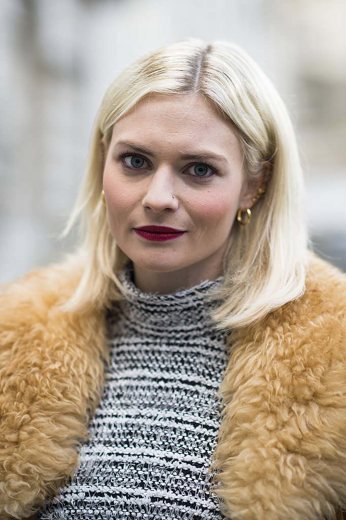 A lob and red lipstick made a classic pair, especially on Pandora Sykes. Source: Le 21ème | Adam Katz Sinding