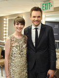 Anne Hathaway shared a moment with Joel McHale.