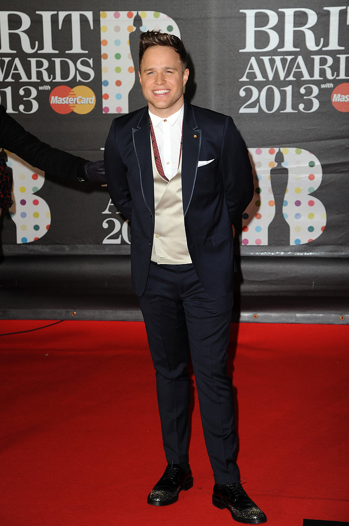 Nominee Olly Murs arrived at the Brit Awards in London.