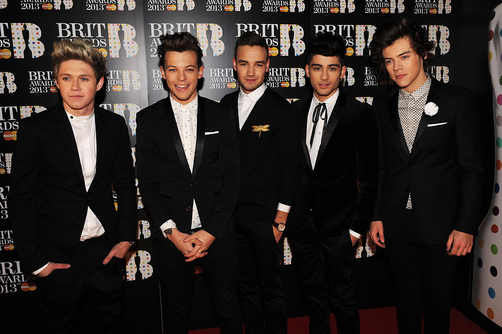 One Direction looked dapper on the Brit Awards red carpet.