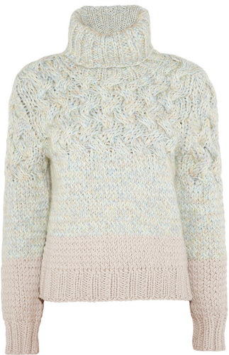 Chloé Cable-knit wool-blend sweater