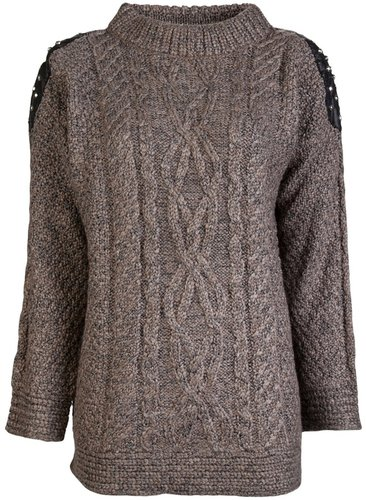 Elizabeth And James Oversize cable knit sweater