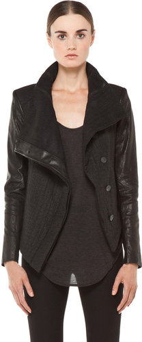 Helmut Lang Flap Collar Jacket in Black