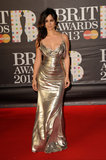 Bond girl Bérénice Marlohe shimmered in a silver silk lame Donna Karan Atelier gown at the Brit Awards.