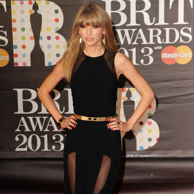 Taylor Swift goes Sexy Elie Saab for the 2013 Brit Awards