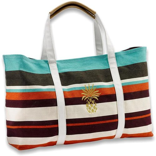 Relax Striped Pineapple Tote