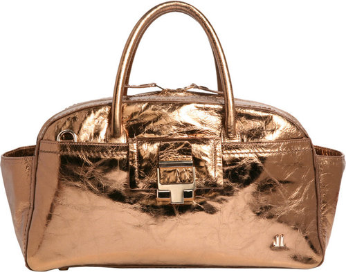 Lanvin JL Small Metallic Bowling Bag