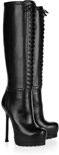 Yves Saint Laurent Tribtoo leather knee boots