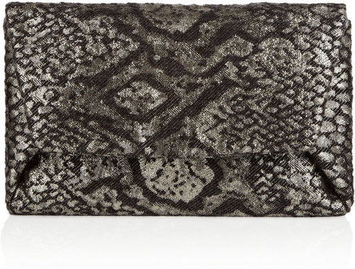 Lanvin Mai-Tai metallic brocade clutch
