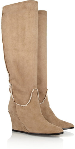 Lanvin Shearling wedge boots