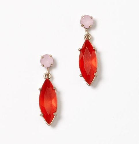 Colored Stone Statement Earrings