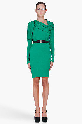 LANVIN Green Wool 22 FBG Dress