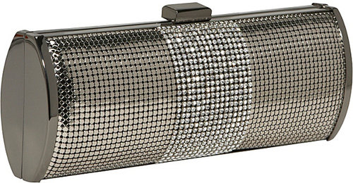 Whiting and Davis Crystal Stripe Roll Clutch