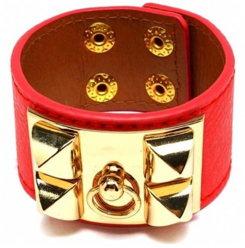 Style Tryst Studded Faux Leather Bracelet