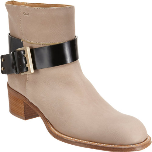 Chlo Buckle Strap Ankle Boot