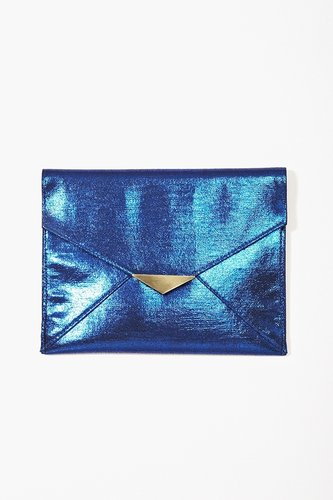 Midnight Metallic Clutch