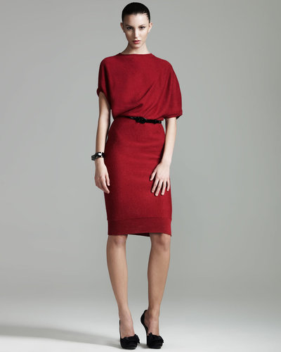 Lanvin Draped Knit Dress