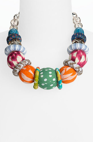 Lenora Dame Fabric Ball Statement Necklace