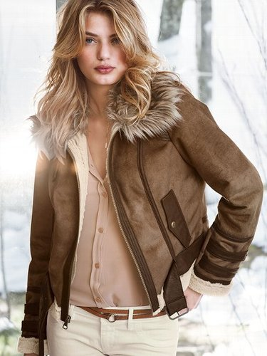 Faux-shearling Aviator Jacket