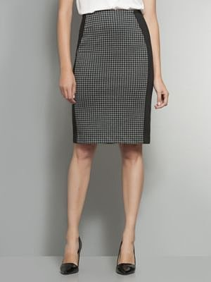 The 7th Avenue Houndstooth Pencil Skirt