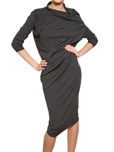 Draped Merino Extra Fine Knit Dress